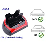 "Ronsen 875U Hard Disk Drive Docking Station - USB 3.0 Dual Port for 2.5""/3.5"" IDE and SATA I/II HDD SSD"