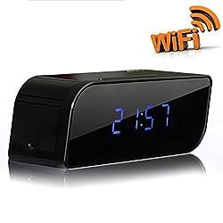 P2P Wifi Pinhole Hidden Alarm Clock Spy Security & Surveillance Camera