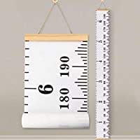 Baby Height Growth Chart Ruler KINBON Kids Roll-up Canvas...