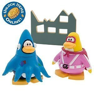 Club Penguin 2' Mix - Disney Club Penguin 2'' Mix 'N Match Figure Pack - Gamma Gal and Squidzoid