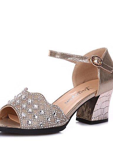 Sparkling Silver Women's Glitter Shoes Heel Chunky ShangYi Black Sneakers Black Gold Dance nIfxwxv6