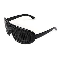 ULKEMENew Type Black Glasses Exercise Eyewear Eyesight Improvement Vision Glasses Training from ULKEME