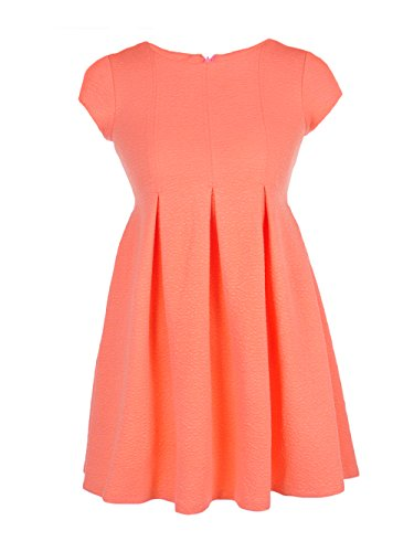 Bonnie Jean Big Girls' Plus Size Dress - Coral, 14.5 Bonnie Jean Bodice Jeans