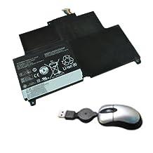 Amsahr Replacement Battery for IBM / Lenovo ThinkPad S230u, ThinkPad S230u Twist, Edge S230u - Includes Mini Optical Mouse