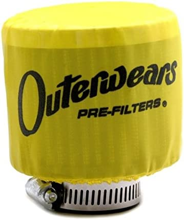 Yellow Outerwear Prefilter With Top Round 3 Diameter 10-1100-04