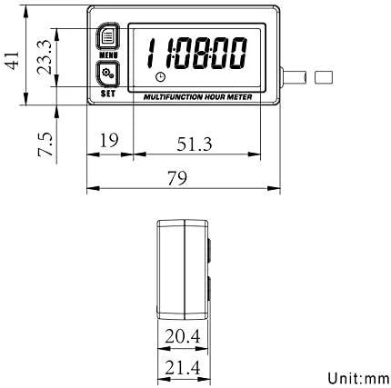 Electrical Runleader RL-HM028A Waterproof Inductive Tachometer ...