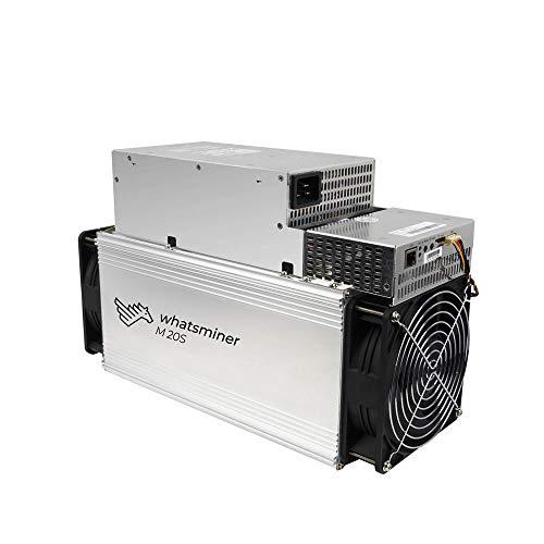 DragonX Whatsminer M20S 68TH/S BTC ASIC Miner Machine 3360W Bitcoin Miner PSU Included(200V-240V Power Input Required)