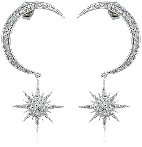 nOir Jewelry Rhodium Moon Starburst ()