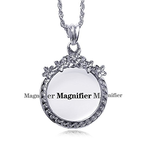 65 Cm Chain Necklace with Crystal Reading Magnifying Glas...