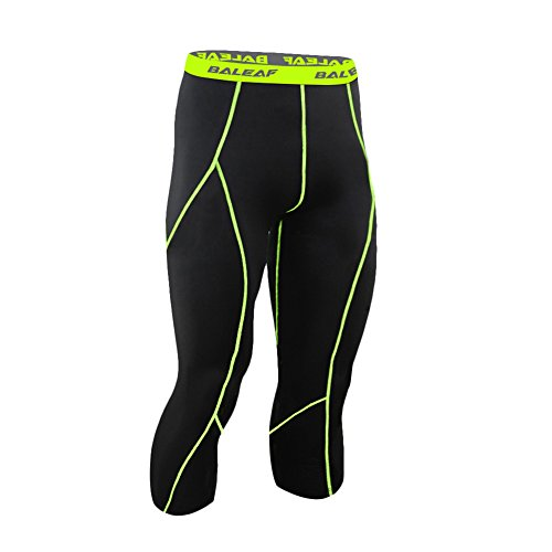 e32f374a332a Baleaf Men s Cool Running Fitness Compression 3 4 Leggings ...