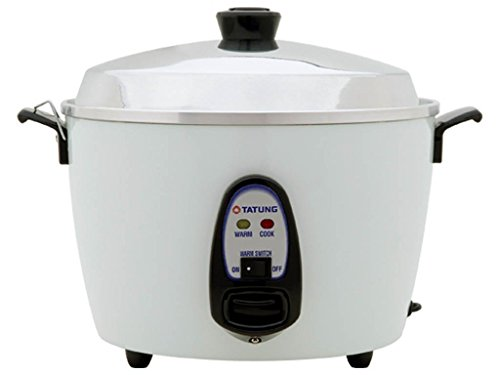 Tatung 10 Cup Rice Cooker- TAC10G(SF)- White aluminum cook pot