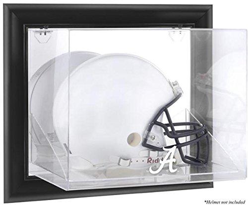 Alabama Crimson Tide Black Framed Wall-Mountable Helmet Display Case - Fanatics Authentic Certified - NCAA Football Helmet Logo Display Cases by Sports Memorabilia