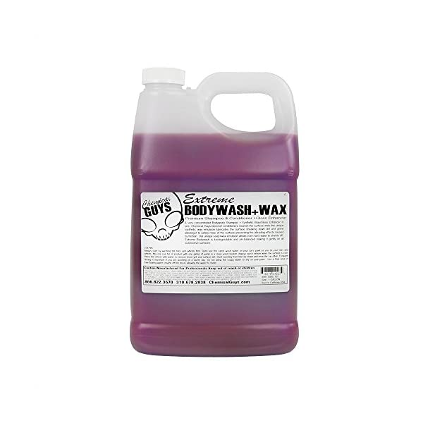 Chemical Guys CWS 107 Extreme BodyWash, Synthetic Wax And Gloss Enhancer   1 Gallon