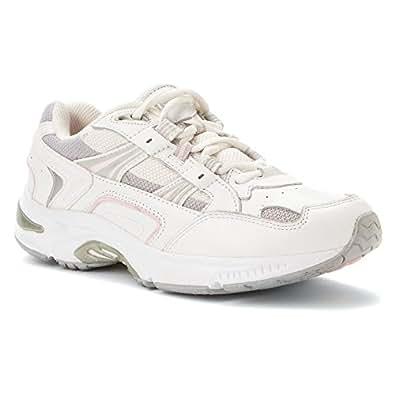 Vionic Women's Walker Classic Shoes, 5 B(M) US, White / Pink