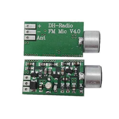 AOSHIKE 1pc Mini FM Transmitter Wireless Microphone Module MIC Wireless Pickup Audio Transmitter 100MHz Wiretap bug detectaphone Dictagraph Interceptor