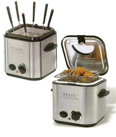 Cool Kitchen Stainless Steel Electric Fondue/Deep Fryer Set Orly
