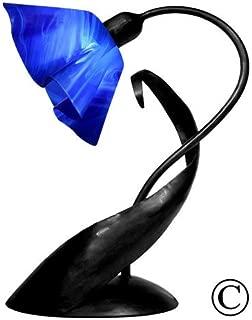 product image for Jezebel Radiance Lazy Daisy Lamp. Hardware: Black. Glass: Cobalt Blue, Lily Style