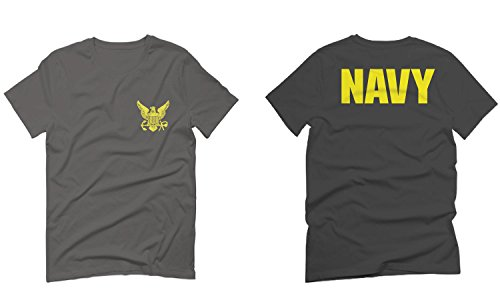 US Navy Seal United States of America American Combat Soldier Front and Back for Men T Shirt (Charcoal Large) - United States Navy Seal Seals