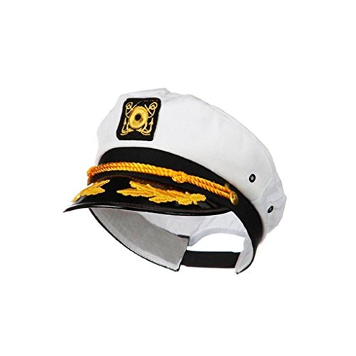 [Mememall Fashion Snapback Sailor Yacht Captain Hat Boat Halloween Theme Costume Hat LOT] (Captain Flint Costume)