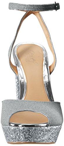 Sandal Heeled Jewel Silver Badgley Luke Women's Mischka wXXTBq1