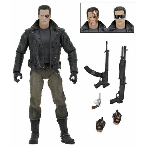 Terminator T-800 Ultimate Police Station Assault with Motorcycle Jacket 7-Inch Action Figure