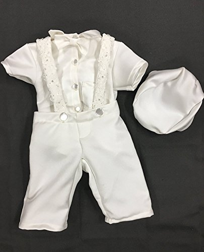 Newdeve Baby Boys Christening Outfit Baptism Infant 3 Pieces With Pants by New Deve (Image #2)