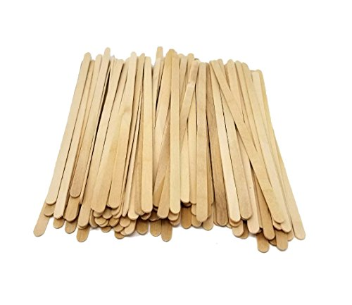 Wood Coffee Stirrers, Stir Sticks for Tea & Hot or Cold Beverages, Biodegradable, 7-Inch (1000 Count) by eDayDeal HomeGoods (1 Pack - 1000) (Wood Stirrers)