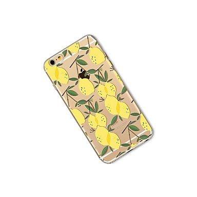 Fundas y estuches para teléfonos móviles, Caso para el iphone 7 más 7 cubren la caja transparente de la contraportada del patrón de la caja de la fruta tpu suave del limón para el ( Modelos Compatible IPhone 7