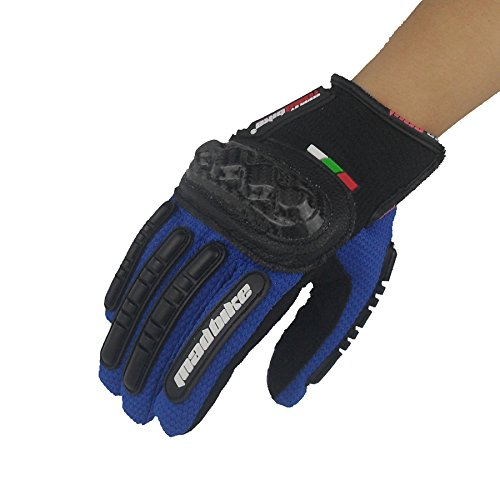 XIE Racing gloves motorcycle glove non-slip wear resistant breathable Knight off-road gloves , blue , l