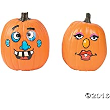 Paper Goofy Jack-O-Lantern Face Stickers