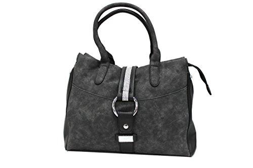 Borsa donna Regina Schrecker modello shopping a mano 17261-3 nero