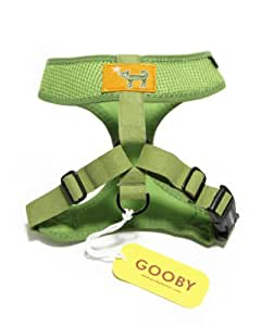 Gooby Choke Free Freedom Harness for Small Dogs, Small, Green