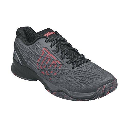 Wilson KAOS All Court Tennis Shoe Mens - Ebony/Black/Fiery Coal 8 D(M) US