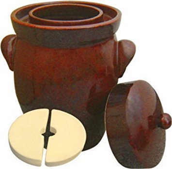 K&K Keramik - German Made Fermenting Crock Pot , Kerazo F2, 7 L (1.9 Gal)
