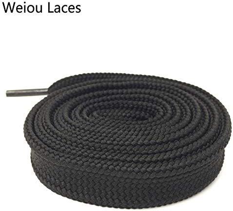 YJZG ヘビーデューティブーツレーススニーカーカラフルなアスレチック・デザイナーフラットワイドシューズストリングス1.8センチメートル/ 0.7「」太っ靴ひものためにレディー・ウーマン (Color : 130 Black, Length : 80cm)
