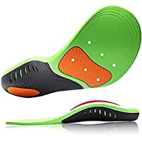 TopLike High Arch Support Insoles for Men and Women, Orthotic Shoes Insert with Cushion for Plantar Fasciitis Flat Feet…