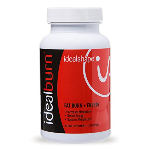 IdealBurn (Single Bottle) by IdealShape. Burn Fat, Improve Mood and Feel Energized. Green Tea Leaf Extract, Natural Caffeine and Other Energizers.
