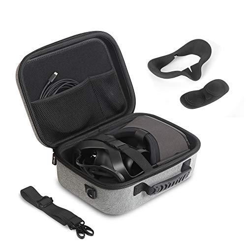 JSVER Reistas voor Oculus Quest Hard Shell EVA All-in-one VR Gaming Headset Case Beschermende doos met schouderriem…