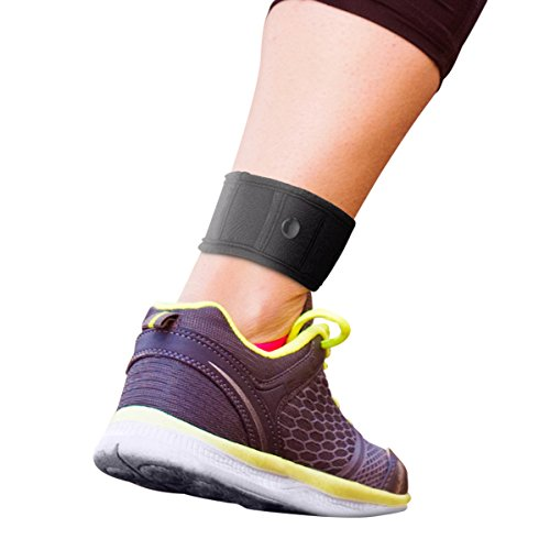 For use with Garmin & Fitbit ANKLE STRAP! THE STEP COUNTER ANKLE BAND! Wear with Fitbit Flex 1/2, Fitbit One, Fitbit Alta/HR, Fitbit Charge HR 2, or Garmin Vivofit 1/2/3/JR. (XS/Small, Black) (Wear Pedometer)