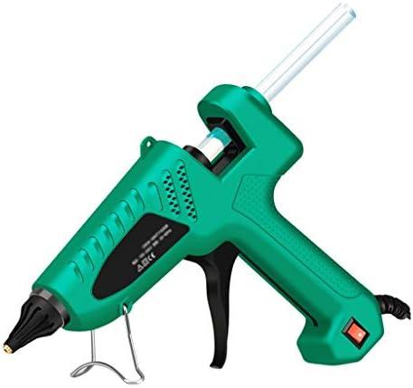 Minmin 緑、DIYアートの作成に適した20本のスティックのり、抗湯通しノズルとブラケット、ホットメルトグルーガン、60W / 80W / 100Wプロの工業用グレードのホットグルーガン、 ミニ (Color : 60W)