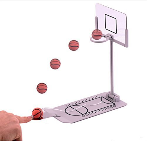 ActionFly Basketball Game - Mini Desktop Tabletop Portable Travel or Office Game Set for Indoor or Outdoor- Fun Sports Novelty Toy or Gag Gift Idea by ActionFly