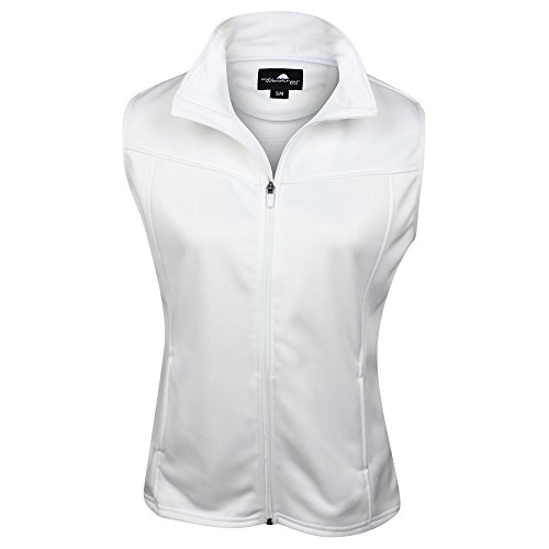 The Weather Apparel Co Poly Flex Golf Vest 2017 Womens White Medium by The Weather Apparel Co