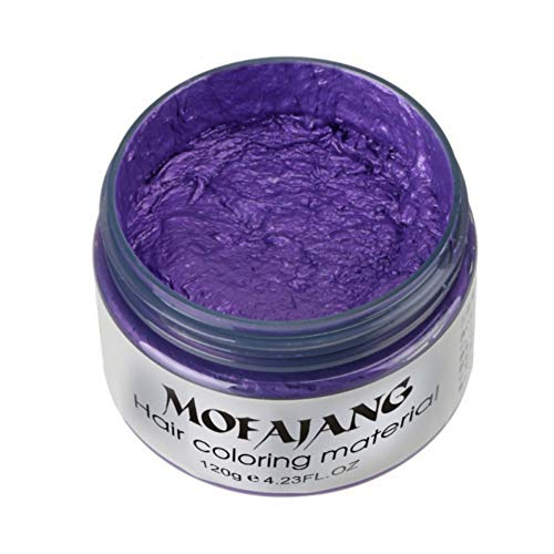 Angmile Temporary Hair Color Wax Hair Dye Cream Fashion Hair Styling Mud, Non Greasy, Washable,Unisex Healthy Disposable Hair Dye, Suitable For Cosplay, Kids Masquerade Party