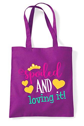 Loving Shopper Spoiled It And Magenta Tote Bag XrXx5Twq