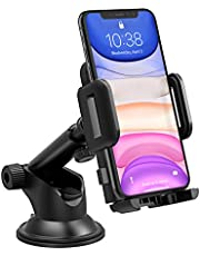 Mpow Phone Holder for Car, Universal Car Phone Mount, Adjustable Dashboard Cell Phone Mount Holder Cradle Compatible iPhone XR/XS Max/X/8/7/6, Galaxy S10/S9/S8/S7, LG, Google, Nexus 5x, Moto, Black