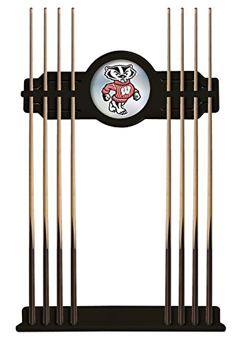 - Holland Bar Stool Co. Wisconsin Badger Cue Rack in Black Finish