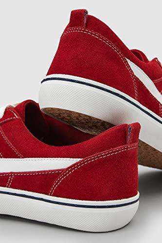 Rouge Next En Femme À Baskets Lacets Daim xTTgYrwqA