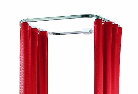 Barra Per Tenda Doccia.Spirella Asta Per Tenda Doccia Circolare In Alluminio Ova Cabine 70