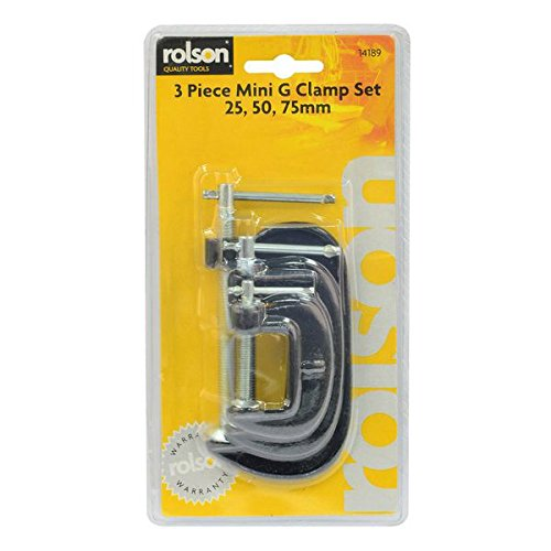 Rolson 14189 Lot de 3 mini serre-joints en G