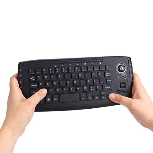 Lywey 2.4G Mini Wireless Keyboard Multi-Media Functional Trackball Air Mouse